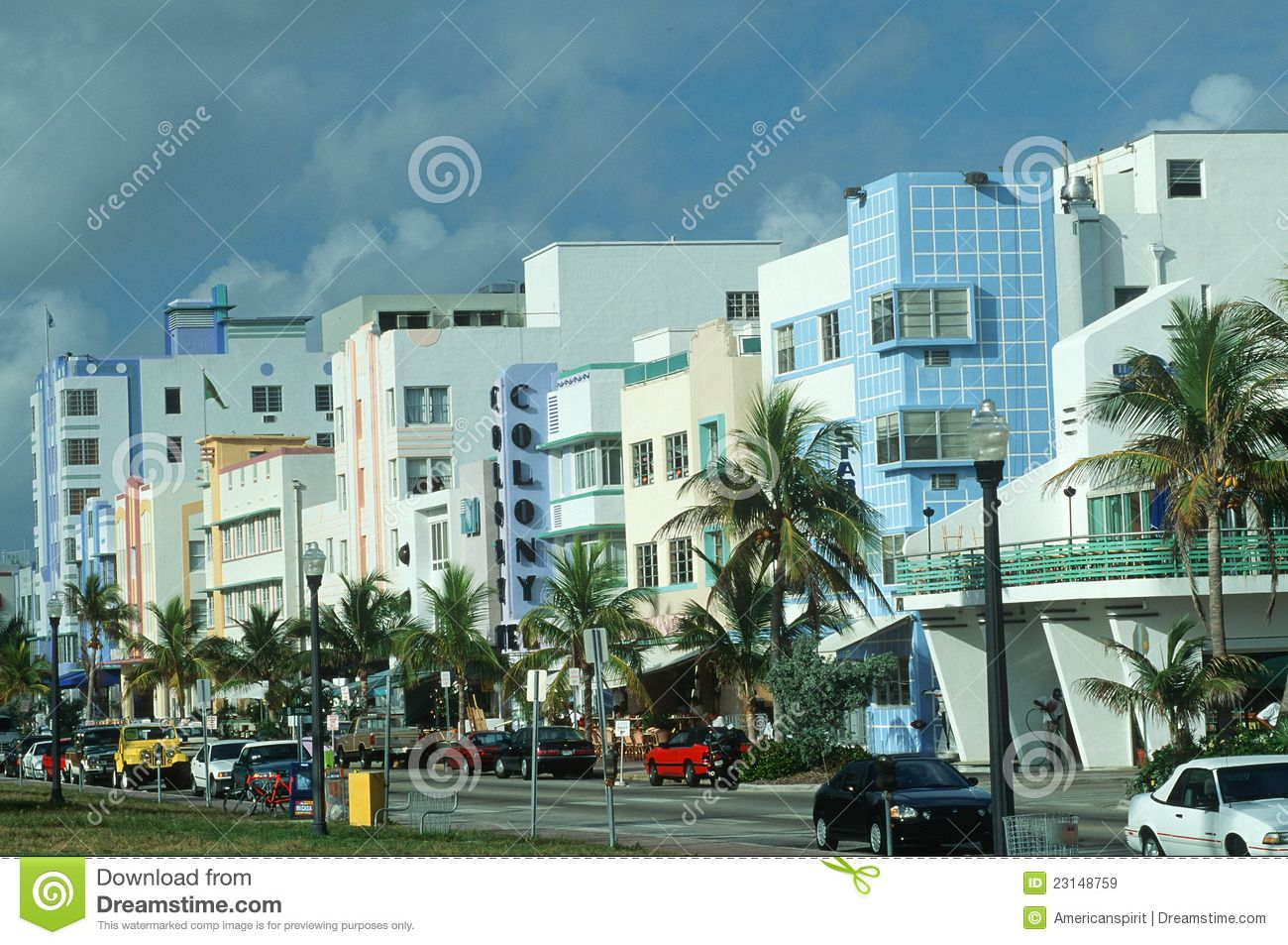 American Art Deco Miami Fl Ocean Drive South Beach 800 Preserved Buildings In The Art Deco Style Style Overlaps Deco And Art Moderne Tends T Guzel Yerler
