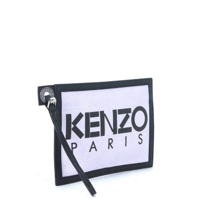 26cebf42c1 Laterale Pochette Kenzo in tessuto lilla denim | H-Brands Women SS16 ...