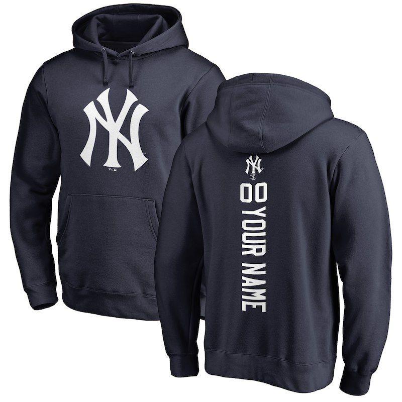 New York Yankees Personalized Backer Pullover Hoodie Navy Hoodies Dodgers Sweatshirt Toronto Blue Jays