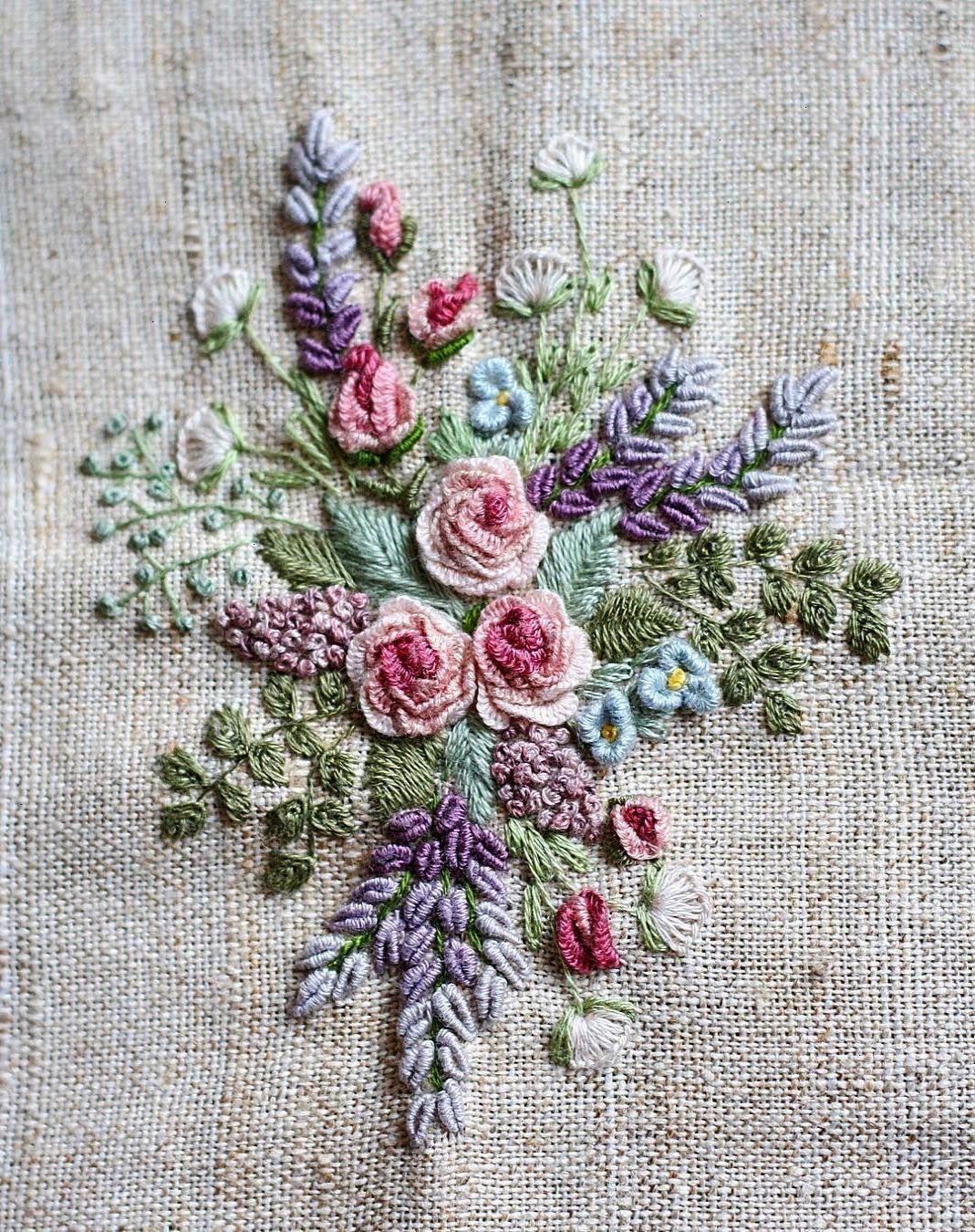 Calla Lily - DK Designs Brazilian Embroidery pattern & fabric #3892 | Ribbon embroidery ...