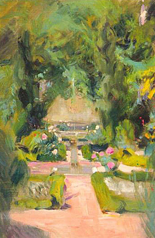 Jardín de la casa de Sorolla (Sorolla's Garden) - Joaquin Sorolla i Bastida 1863-1923