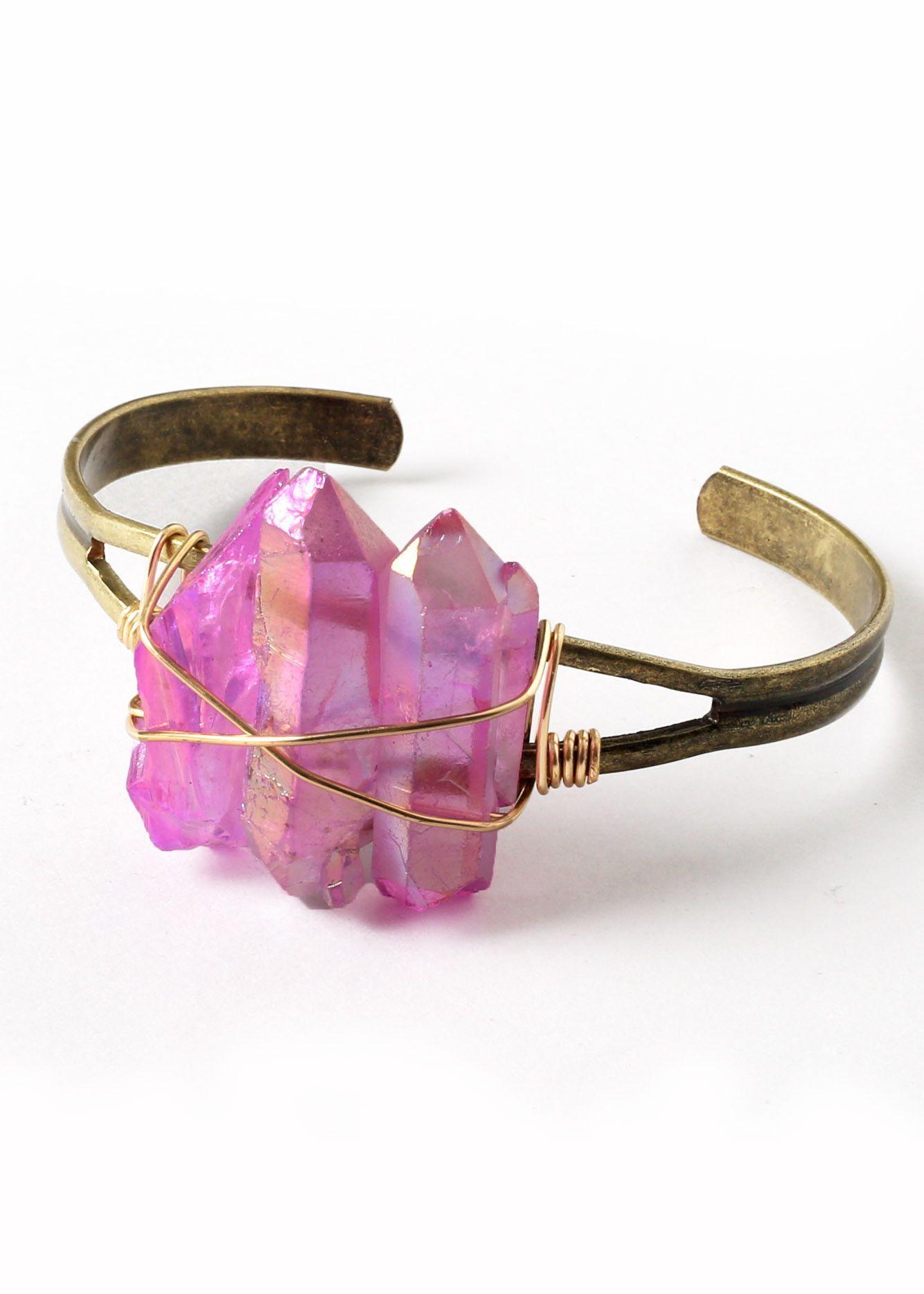 Power of Three Cuff in Pink | accessories | Pinterest | Third ...