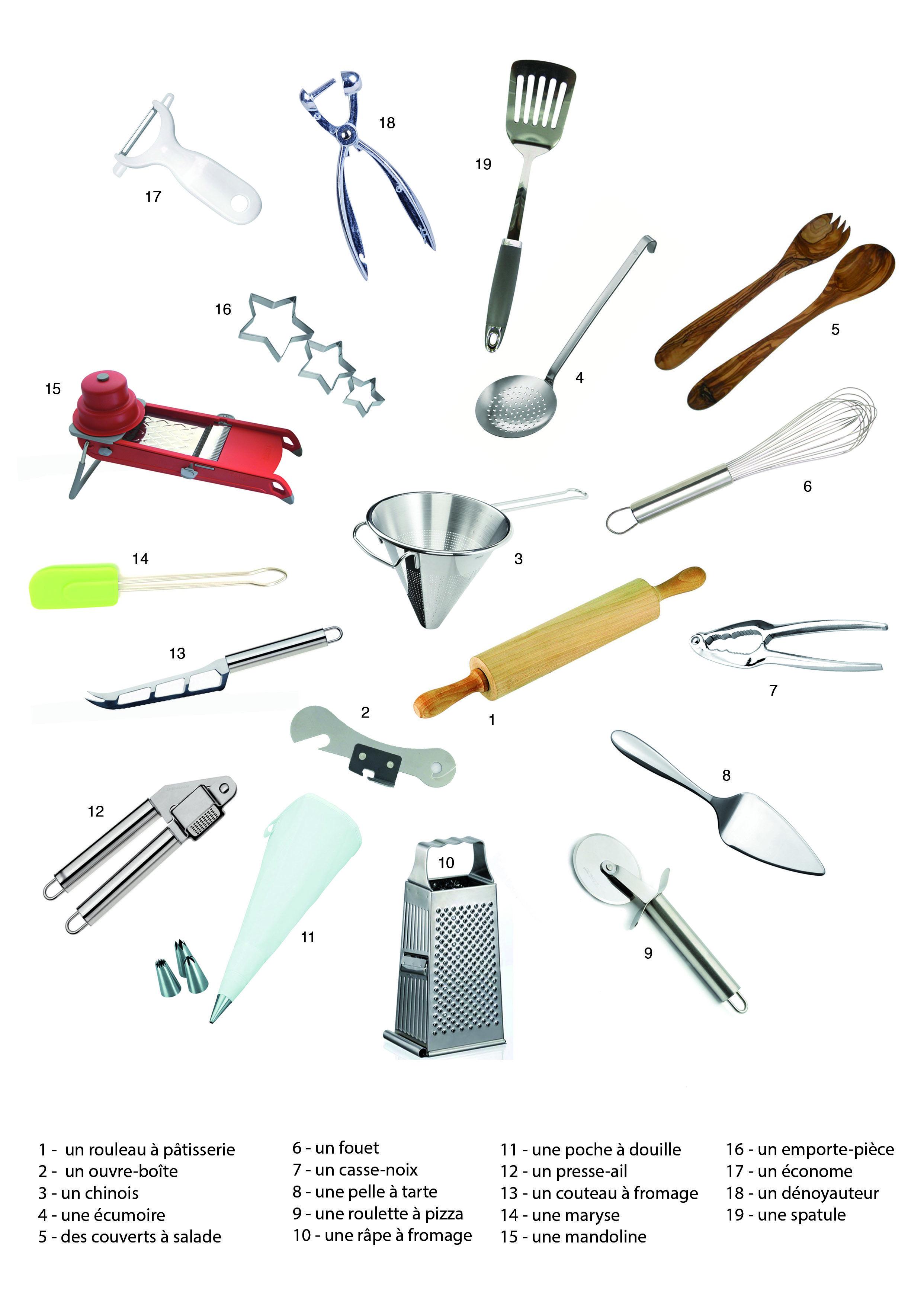 Ustensiles de cuisine imagiers pinterest de cuisine for Vocabulaire de cuisine