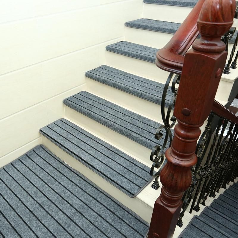Adhesive Carpet Stair 15 Pcs Carpet Stair Treads Carpet Stairs Stair Rugs