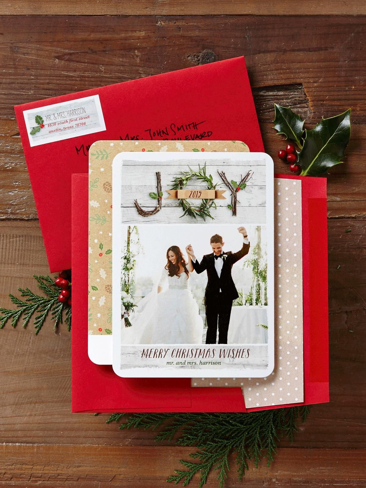 Just married? Send your Christmas card as newlyweds. Personalize a ...