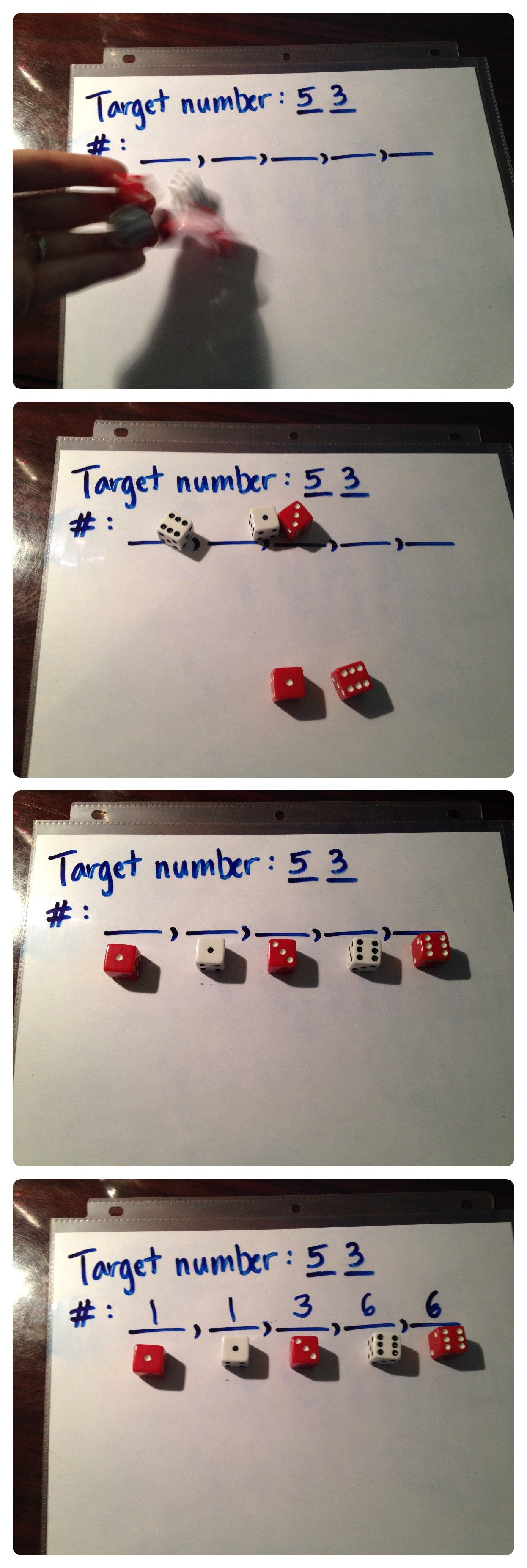 A really fun math game practicing the order of operations