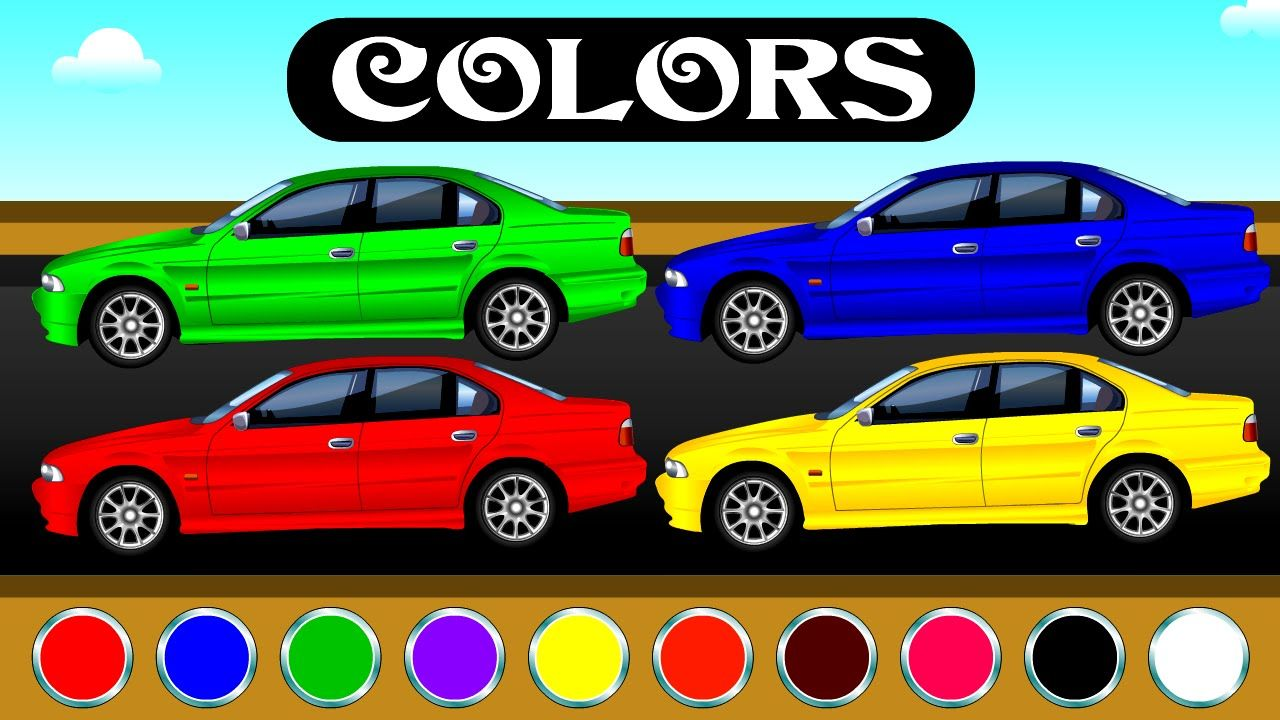 Colorful Cars Video For Kids To Drive Colors Names By Little Star Bums Fun Learning Learning Colors Coloring For Kids