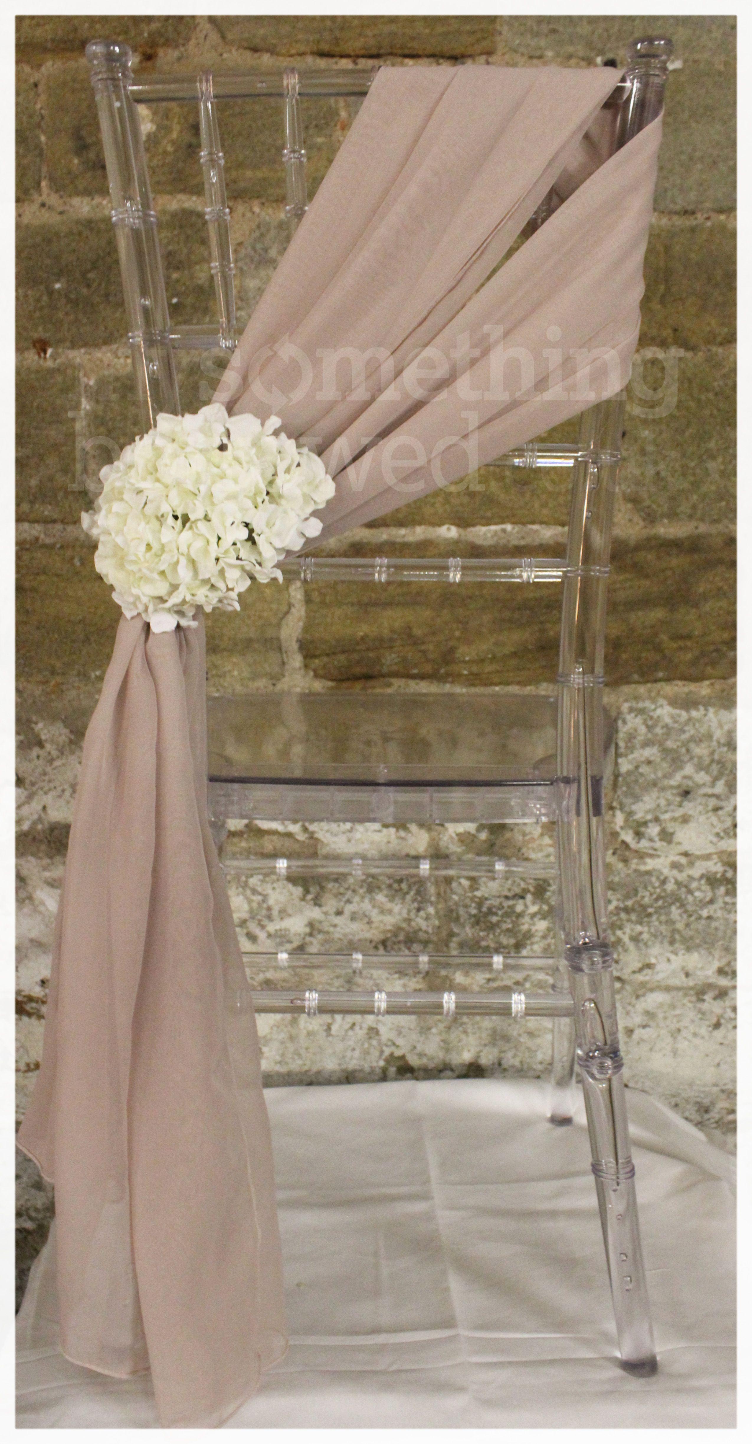 Fine An Elegant Blush Chiffon Chair Tie Adorned With Ivory Cjindustries Chair Design For Home Cjindustriesco