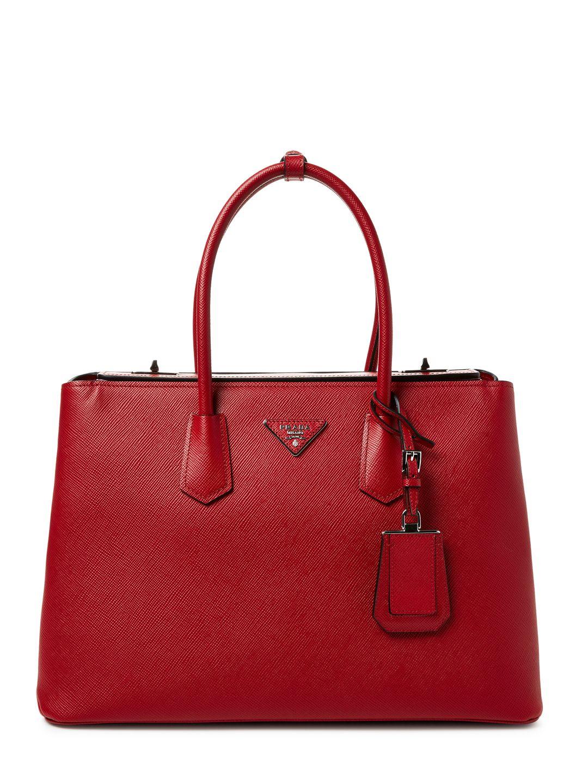 cfaf8697833876 Prada | Saffiano Leather Double Turn-Lock Tote) | // Prada | Prada ...