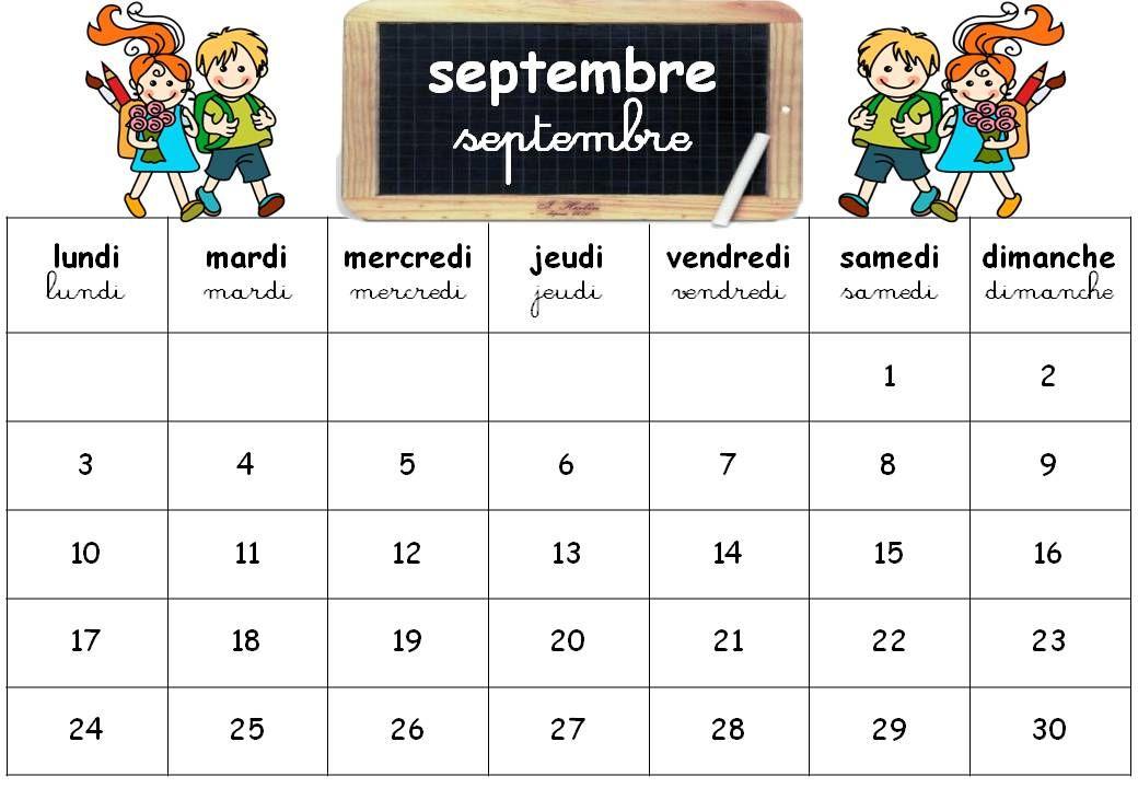 Calendrier Pour La Classe.Epingle Par Nedj Ma Sur Ecole Calendrier Scolaire