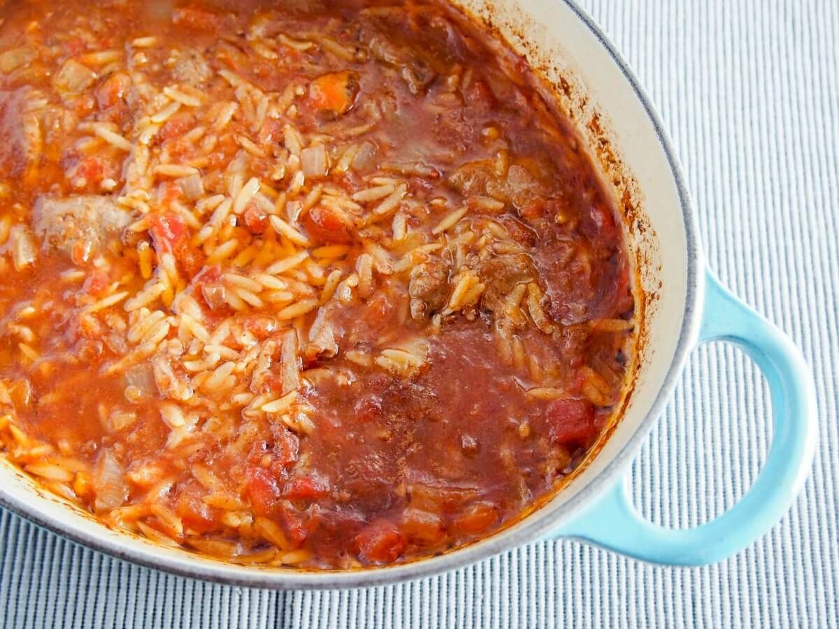 Youvetsi is a delicious greek stew made with beef or lamb and orzo dinners forumfinder Choice Image