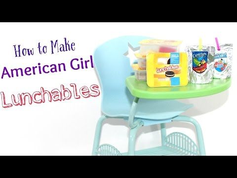 Doll Lunchables Capri Sun Diy American Girl Doll Crafts
