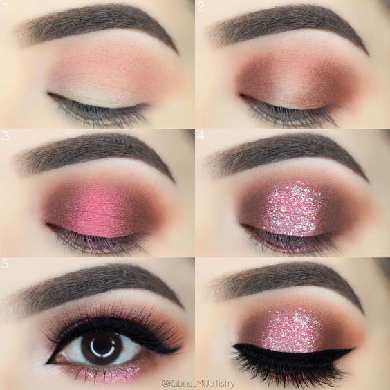 Pink Eye Makeup Tutorial,Step By Step