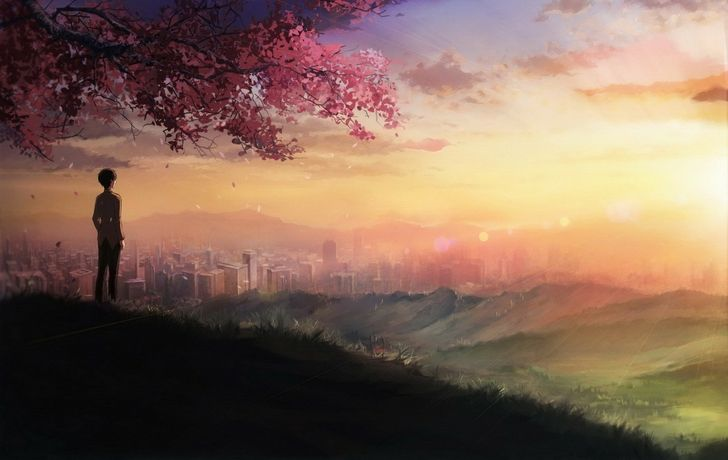 Standing Alone Anime Scenery Anime Art Beautiful Anime Scenery Wallpaper