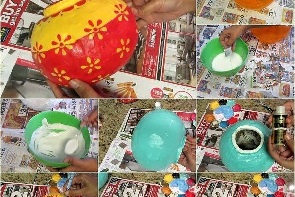 Here's the link to the tutorial  Make Paper Round Pots Step by Step  by ReadyFor DIY