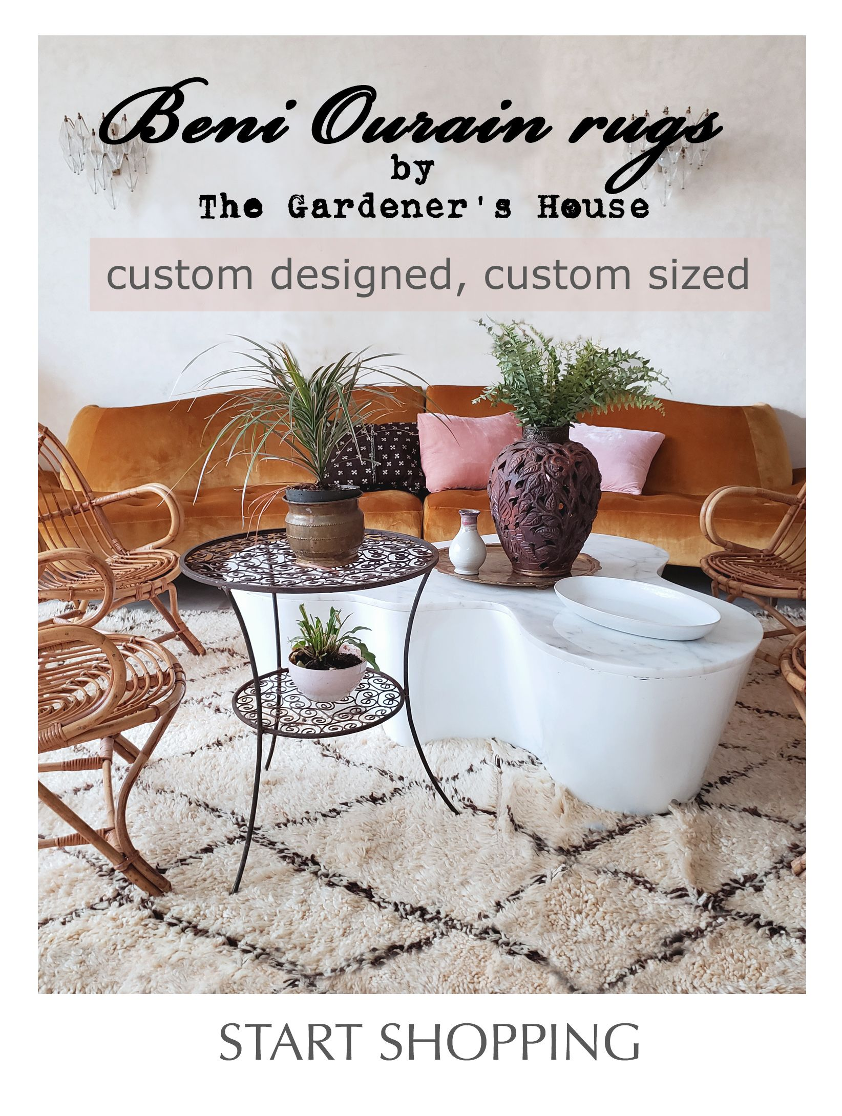 The Gardener's House thegardenershouse.com creates custom Beni Ourain rugs handwoven at the foot of the Beni Ourain mountains. You can choose your exact size and design, and we even have a few color choices. The perfect plush pile right here at The Gardener's House, Marrakesh. #beniourain #customrugs #beniourainrug #moroccanrug  #moroccanruglivingroom #moroccanrugbedroom #beniourainrugbedroom #beniourainlivingroom #beniourainruglivingroom #customsizerug #customsizerugs #custommaderugs #customrug