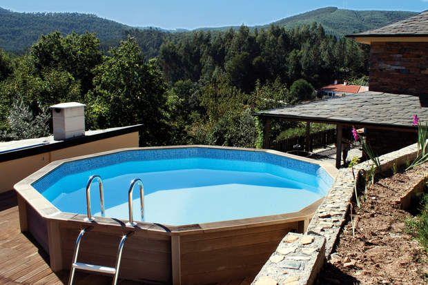 Notre sélection de piscines hors sol Piscine hors sol, Manche and Sons - piscine hors sol beton aspect bois