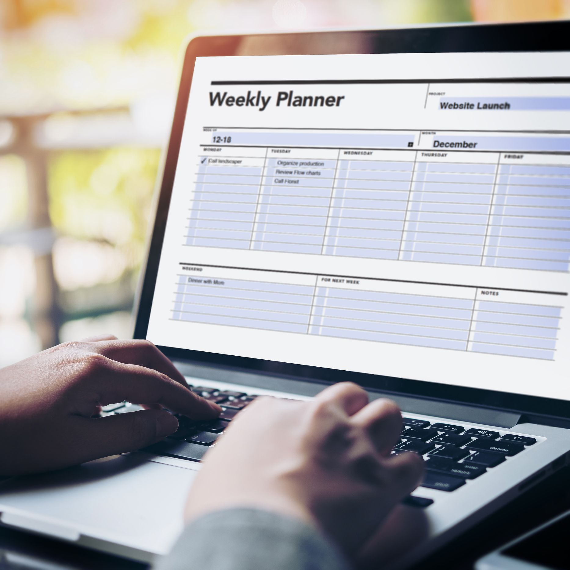 Fillable Weekly Planner Student Agenda