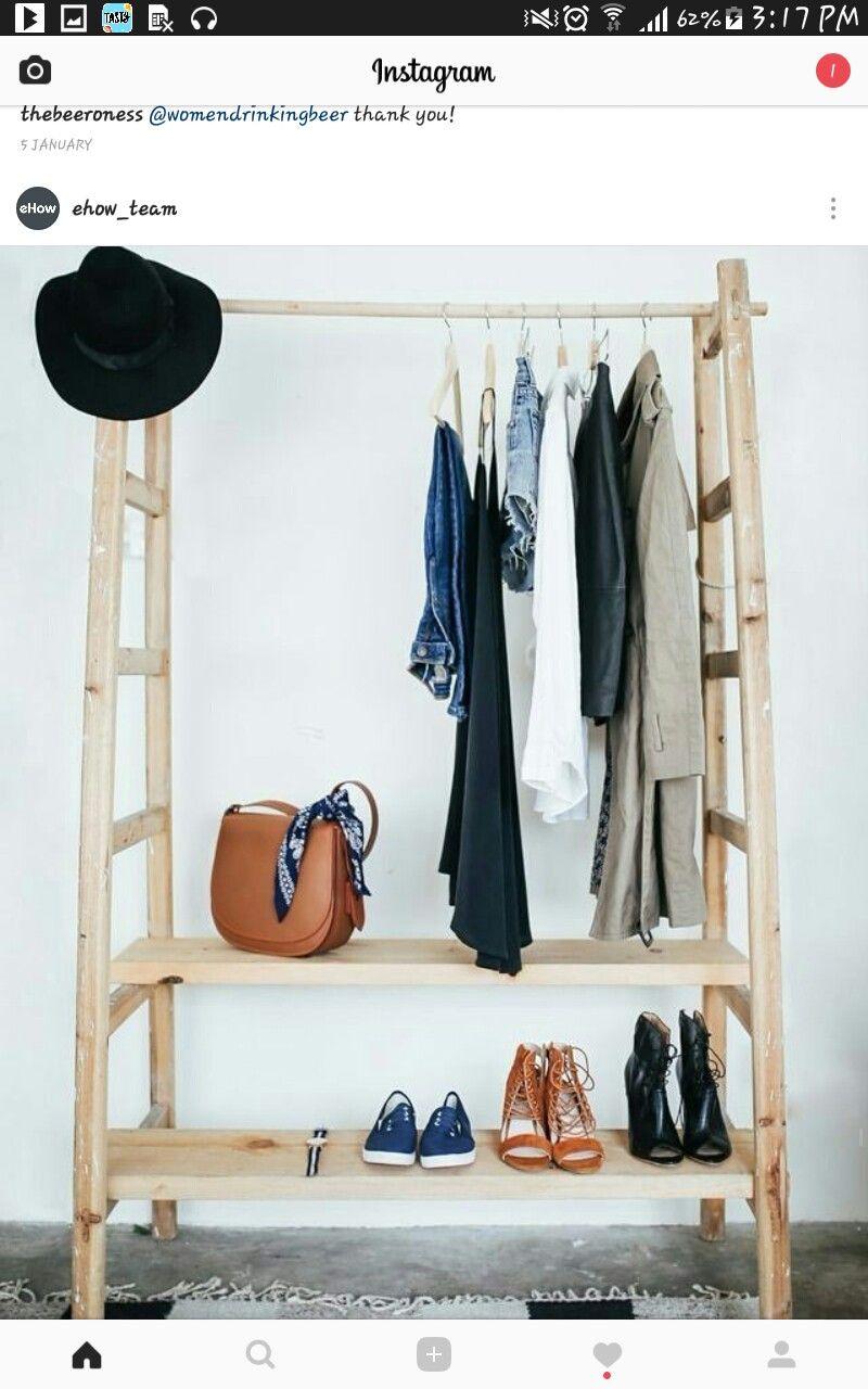 quick closet for traveling | No closet solutions, Wardrobe ...