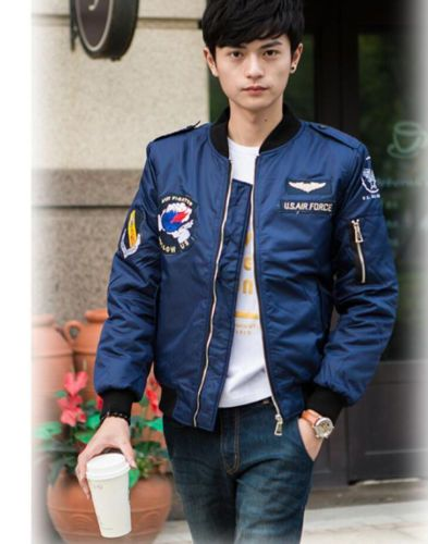 Men's Fashion Long Sleeve Jacket Coat Casual Slim Fit Baseball Uniform Outwear