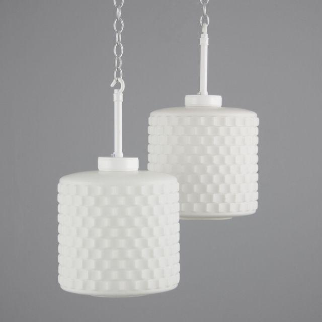 Beautiful White Retro Glass Pendant Lights These