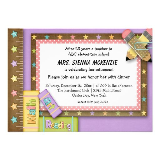 School Event Invitation Zazzle com Retirement party invitations Teacher retirement parties