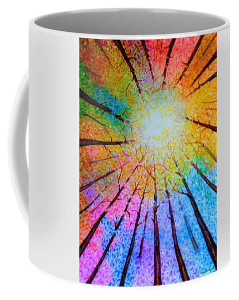 Rainbow Forest Coffee Mug For Sale By Faye Anastasopoulou Mugs For Sale Unusual Pictures Colorful Backgrounds