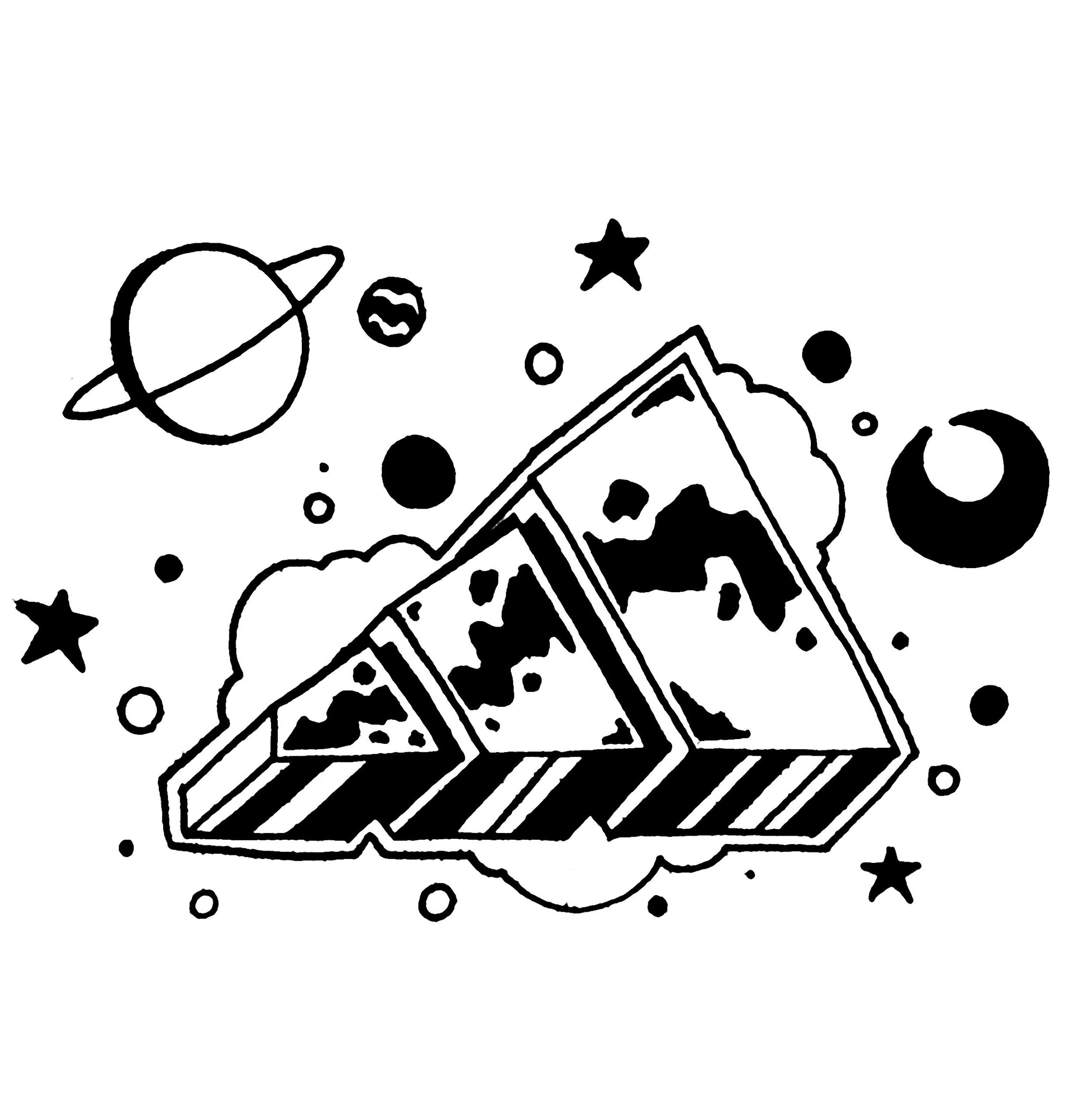 Adidas Logo Ink on Paper Sachen