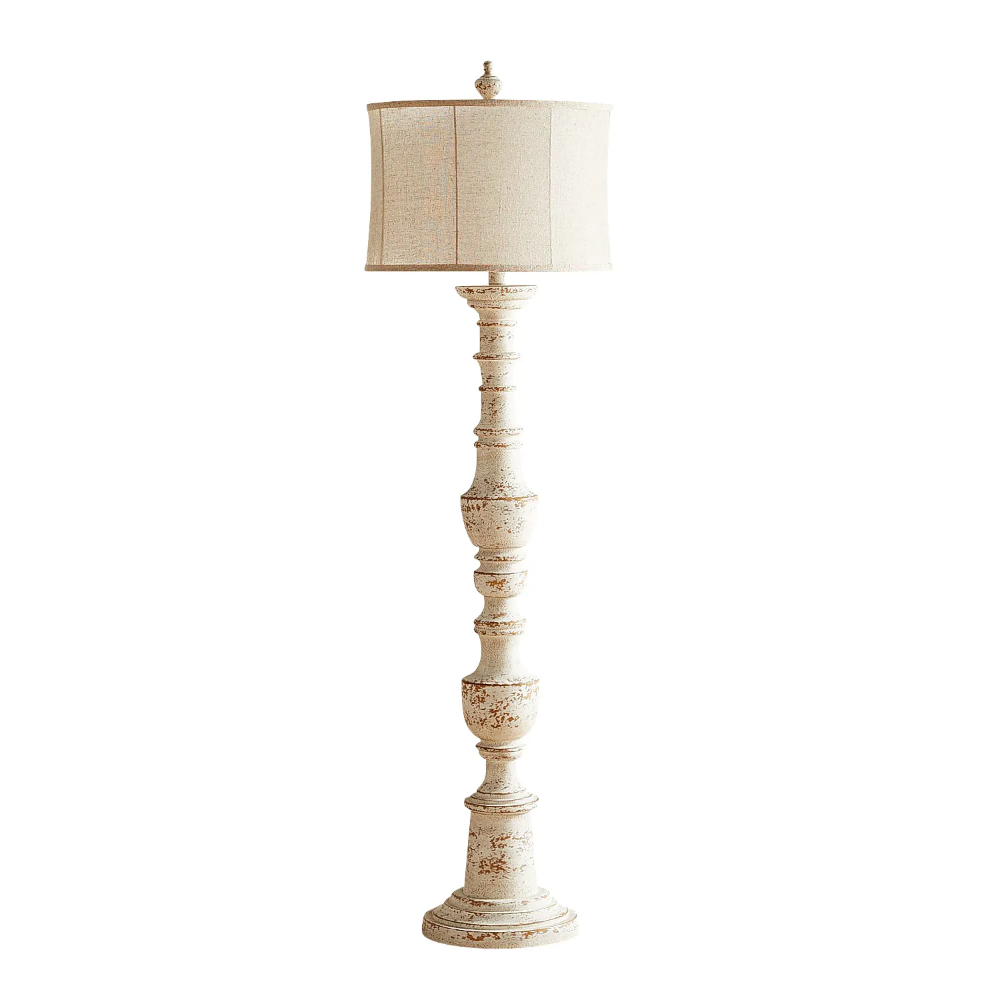 Ashton Whitewashed Floor Lamp in 2020 Floor lamp, White