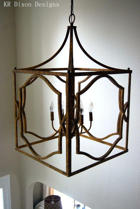 Lantern Lighting Two Story Foyer Kr Dixon Designs