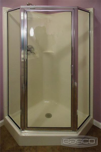 Have A Fiberglass Shower Basco Can Provide The Door A Neo Angle