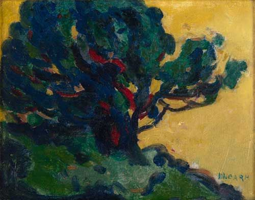 Sketch of a Tree (oil on panel) 1912-16, Emily Carr