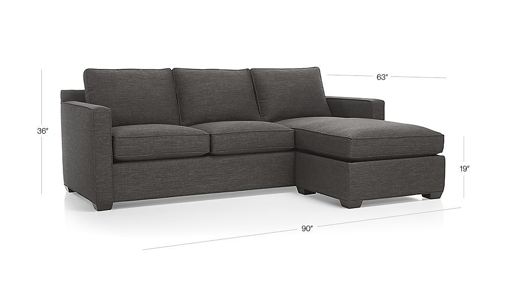 Davis Sectional Lounger Crate And Barrel Lounger Crate And