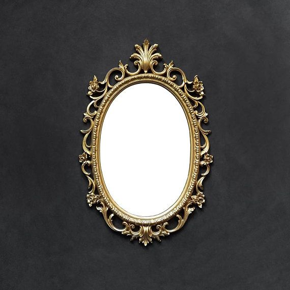 Ornate Gold Mirror Large Oval Vanity Fl Rose Acanthus Leaf Scroll