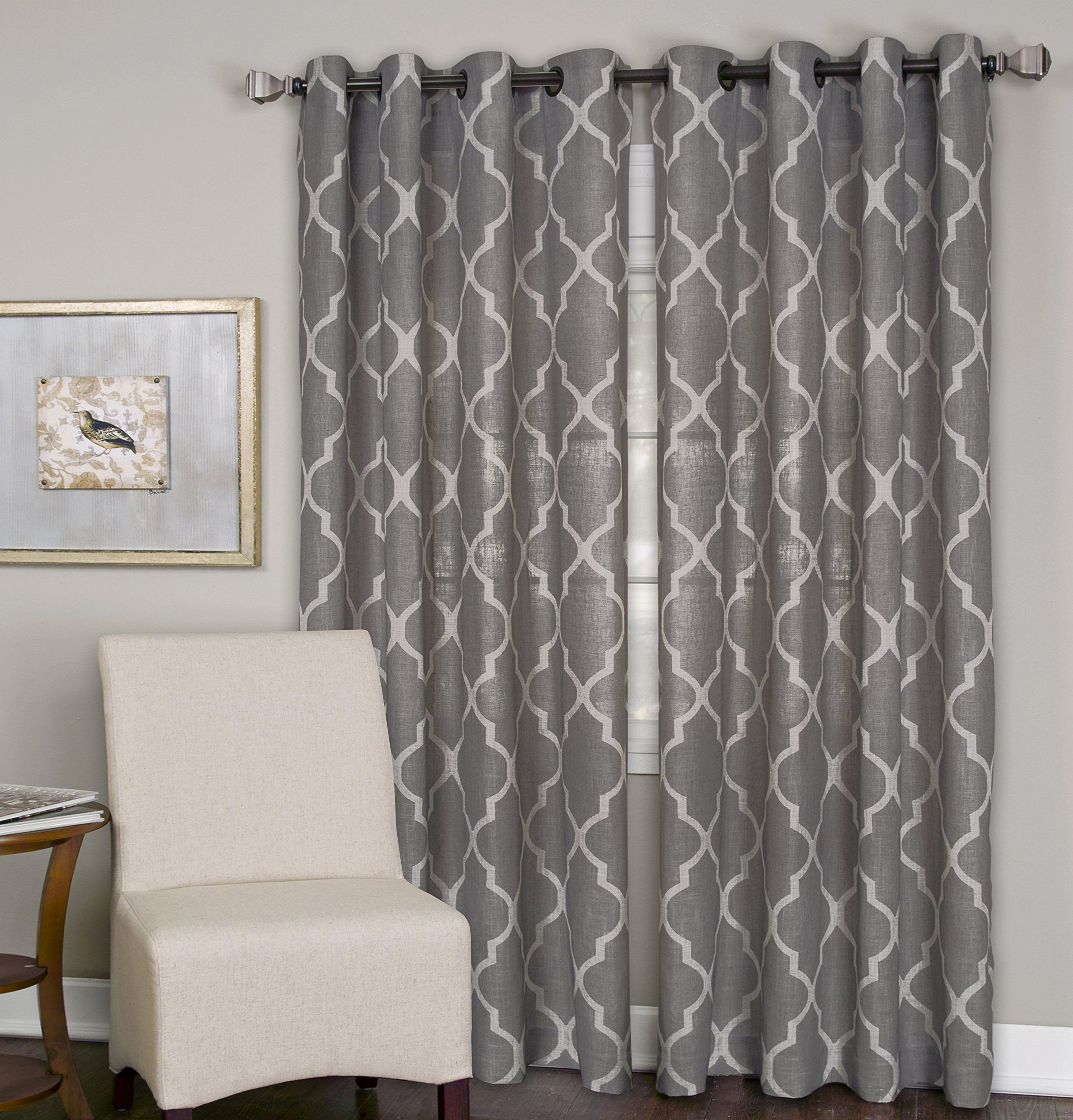 Elrene home fashions grommet top linen look single