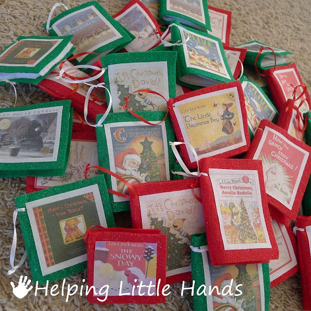 Mini Book Ornaments Diy Craft Tutorial Crafts Howto