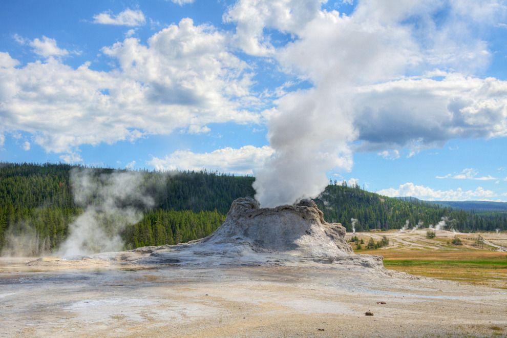 Castle geyser in Yellowstone's Upper geyser basin