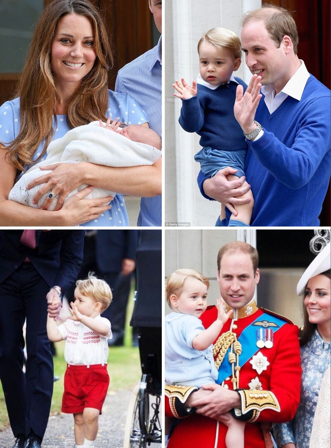 Prince George mastering the Royal wave