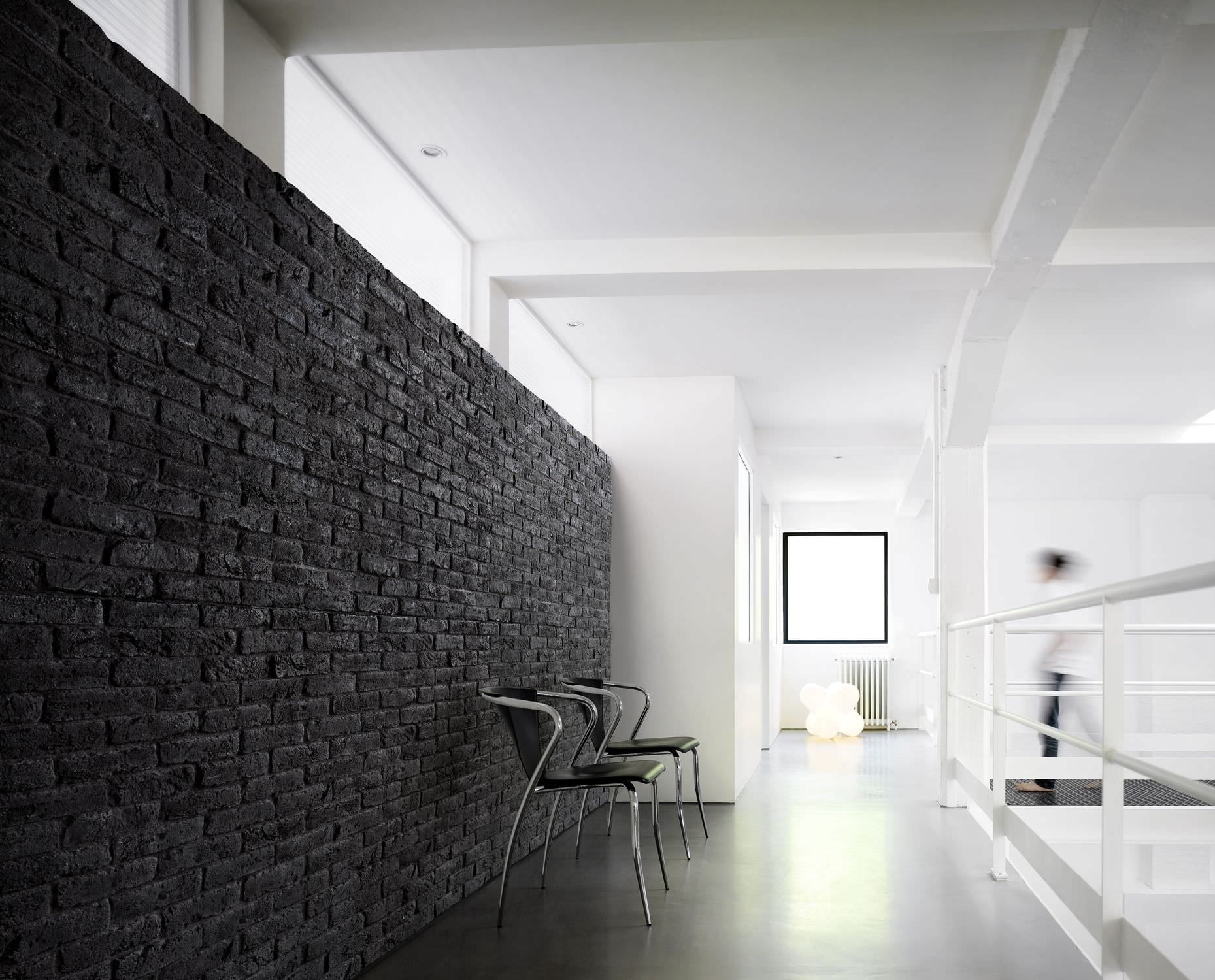 Brick accent wall easy to diy with our faux brick panels for Faux carrelage mural a coller