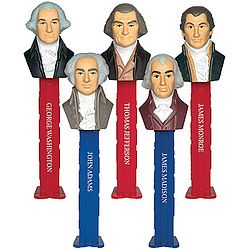 Collectible set of 5 dispensers depicts the first 5 American ...
