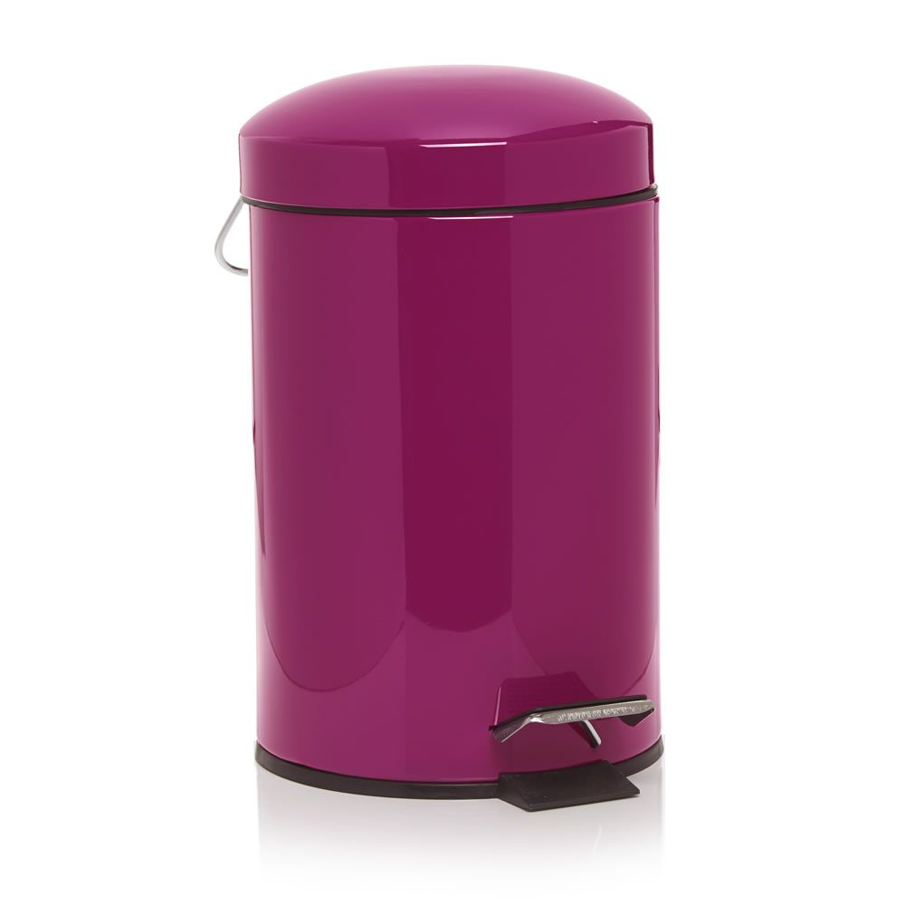 Pink Bins Wilko Dome Pedal Bin Pink 3 Litre Bathroom Bathroom Bin Swing