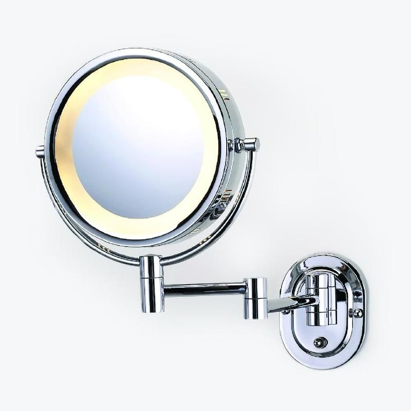 Ancho Round Swinging Lighted Vanity Mirror Wall Mounted