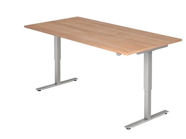 Sitz Steh Schreibtisch Elektrisch 200x100cm Nussbaum Mit Bildern
