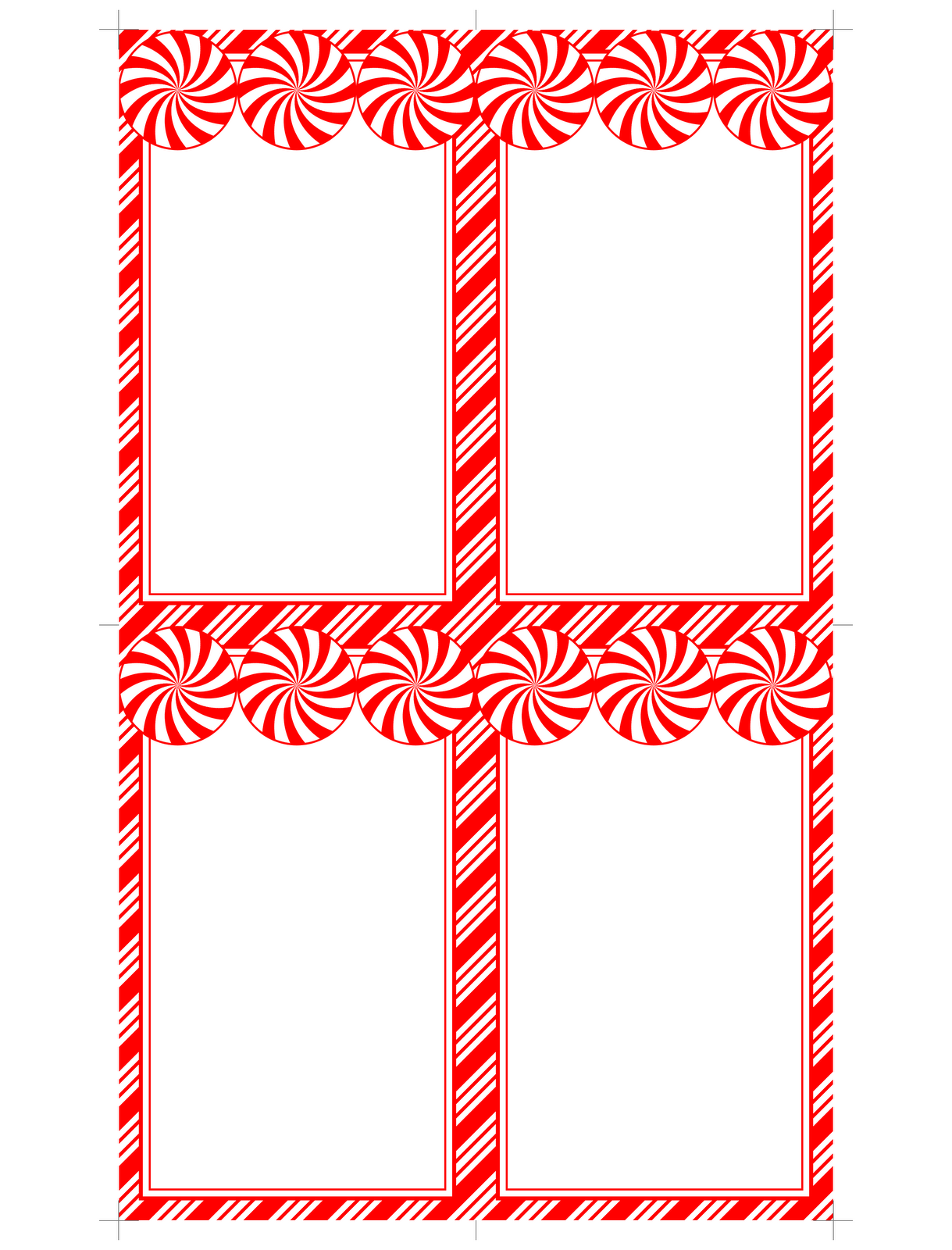 Peppermint Printables! Printable cards, Christmas