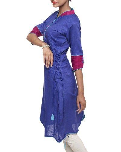 Bishargo Cotton Kurti-Blue