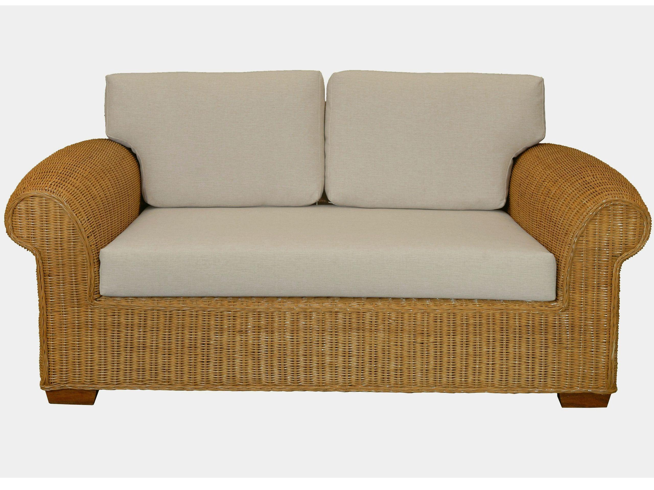 Sofa Chester zweisitzer Honig | Rattan