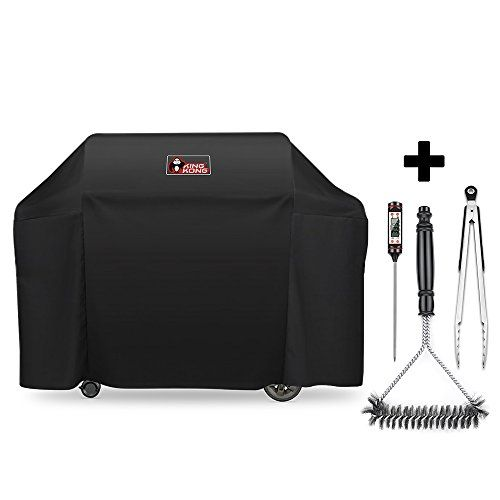 Kingkong 7131 Grill Cover For Weber Genesis Ii 4 Burner Grill Including Brush Tongs And Thermometer Grill Cover Gas Grill Covers Thermometer
