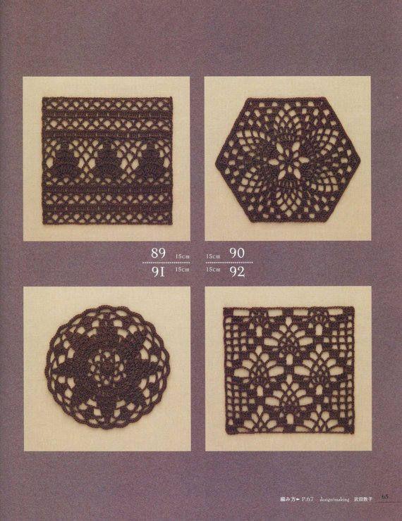 100 Pineapple Crochet Motif Crochet Motif Patterns Japanese
