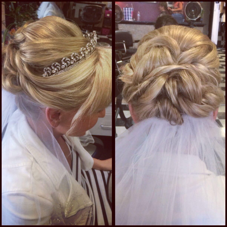 23 Evergreen Romantic Bridal Hairstyles: Wedding Hairstyle Updo With Veil & Tiara? @britt2001709