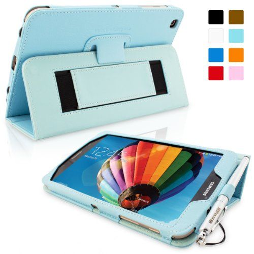 Snugg Galaxy Tab 3 8 0 Leather Case In Baby Blue Flip Stand